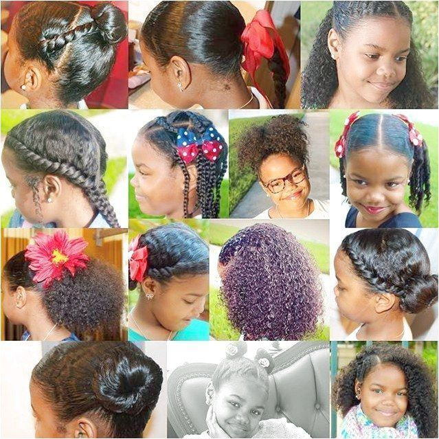 Kids With Cute Hairstyles Cute Designs On Curly Hair Ponytail