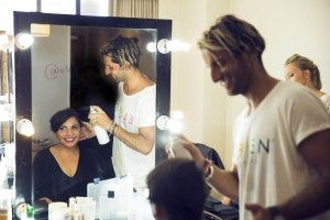 AACTA Awards 2014 - Joey Scandizzo styling Deb Mailman for ELEVEN Australia