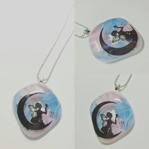 Hey, I found this really awesome Etsy listing at https://www.etsy.com/listing/493880938/fairy-on-glass-necklace-fused-glass