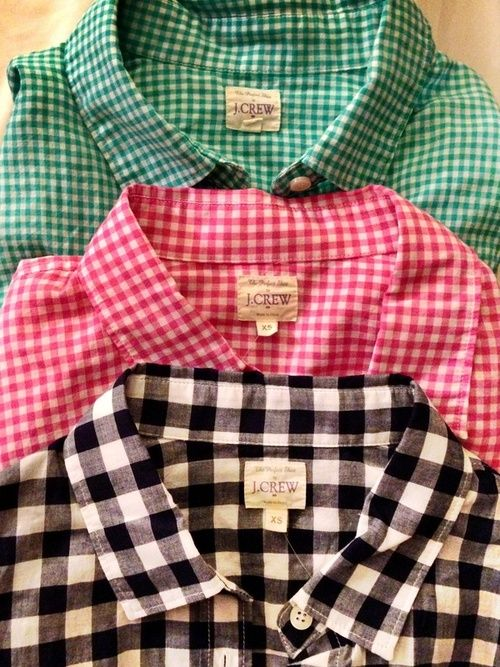 bps:  Gingham Shirts ~ Country Woman At Heart-- in black and white