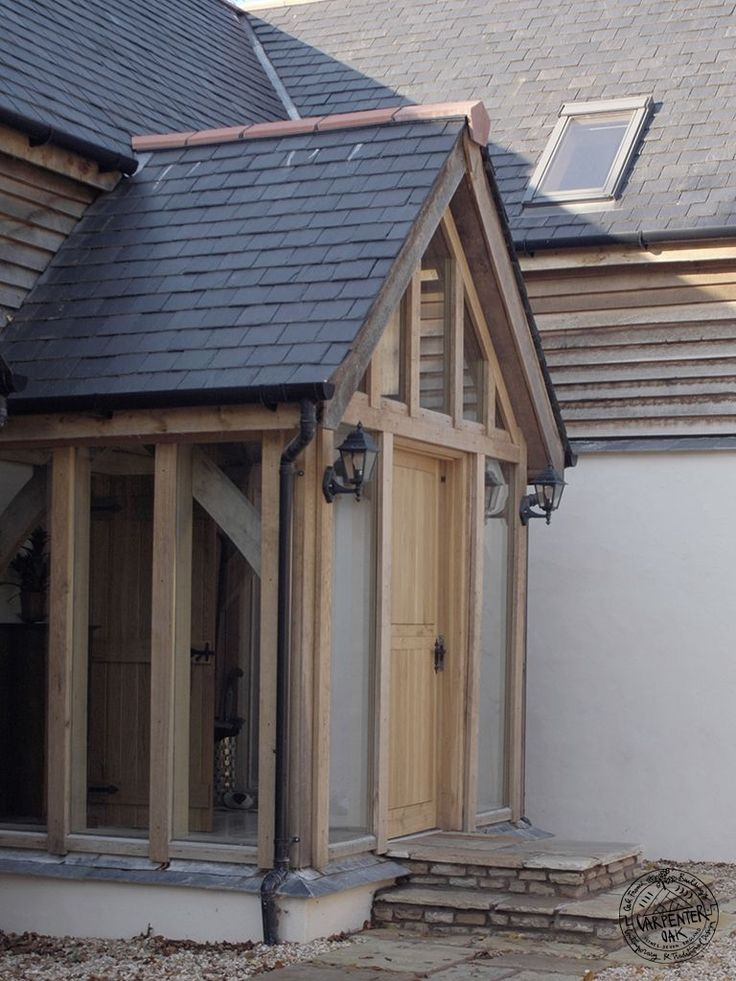 Hand Crafted Timber Framed Porch Image in Pages Porches by Carpenter Oak Ltd Devon