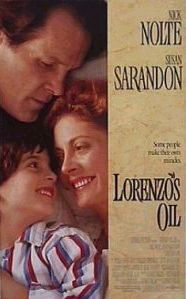 The film is based on the true story of Augusto and Michaela Odone, two parents in a relentless search for a cure for their son Lorenzo's adrenoleukodystrophy (ALD). The film was nominated for two Academy Awards. The real Lorenzo lived 20 years longer than predicted, thanks to his parents' exhaustive research. He died the day after his 30th birthday. A moving, superbly acted film.