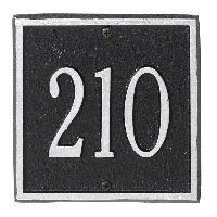 "Petite Square Entryway Address Plaque . $47.96. Our Entryway Petite Address Plaques are just the size you've been looking for. Holds up to three 3"" characters. Mounting hardware is included."