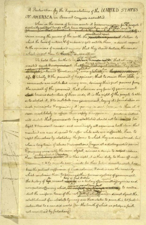 Listen to the reading of the Declaration of Independence