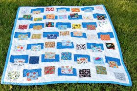 The Busy Bug Life: Alphabet I-SPY Ticker tape Quilt