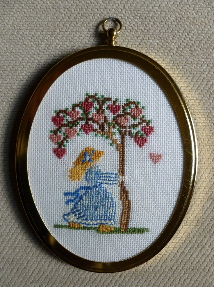 My cross stitch picture done on fine aida, second of set of two.  1990.  Made by Jennifer Johnston.