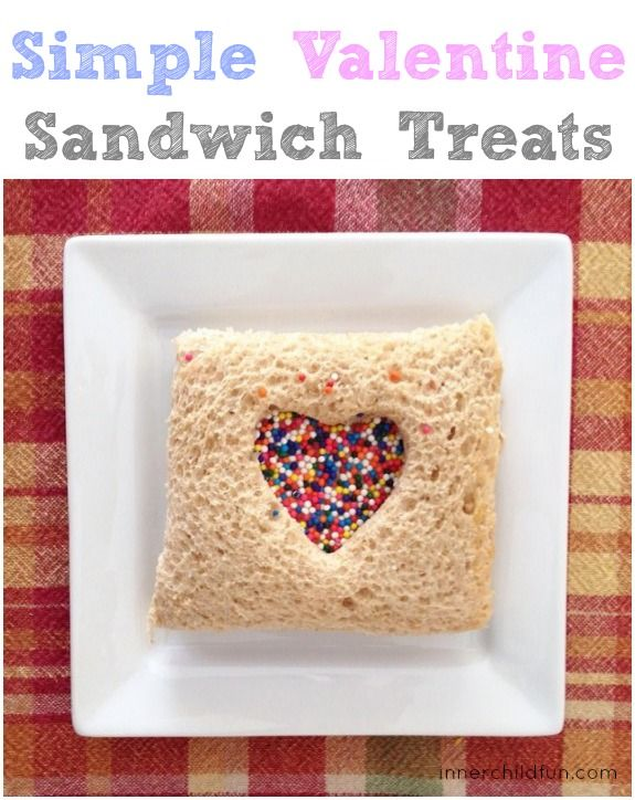 Valentine's Day Sandwich Treats -- how CUTE is this??