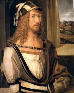 Albrecht Durer - autoportrait 1498, Madrid Prado