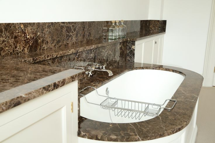 Maron Imperial Marble Bathroom designed by Fred Collin architect