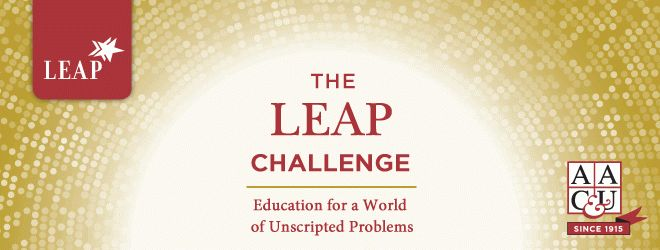 Launched in 2005, Liberal Education and America's Promise (LEAP) is a national public advocacy and campus action initiative of the Association of American Colleges & Universities (AAC&U). LEAP champions the importance of a twenty-first-century liberal education—for individual students and for a nation dependent on economic creativity and democratic vitality.