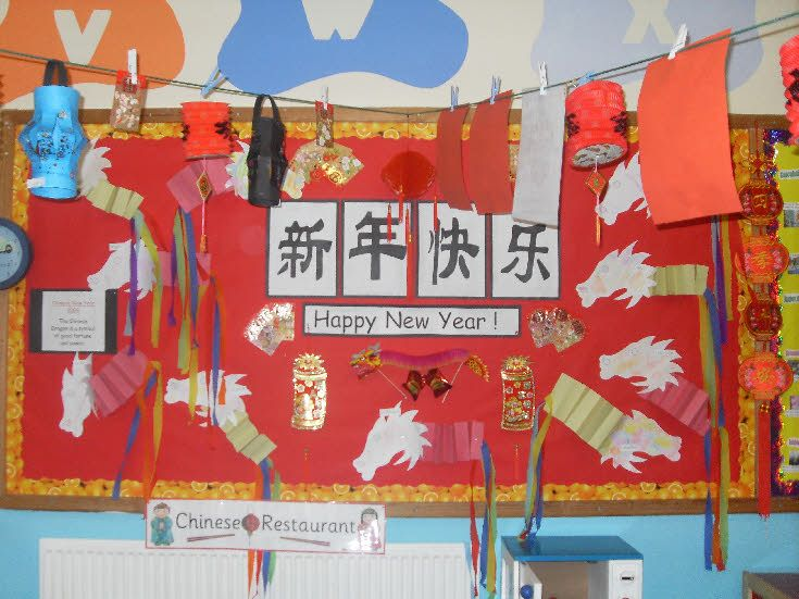 Chinese New Year Classroom Decoration Ideas : Best murals classroom display wall art images on
