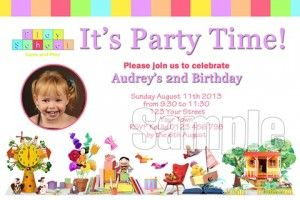 Play School 3 Invitation