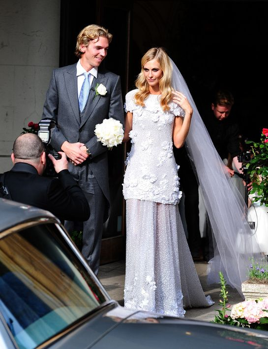 Poppy Delevingne's Chanel wedding dress. swoon.