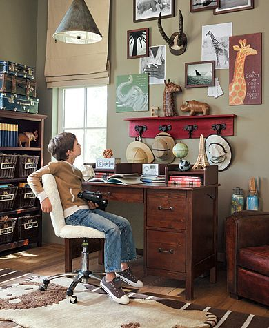 Would this help with GCSE studies?  Kendall Explorer Desk | Pottery Barn Kids