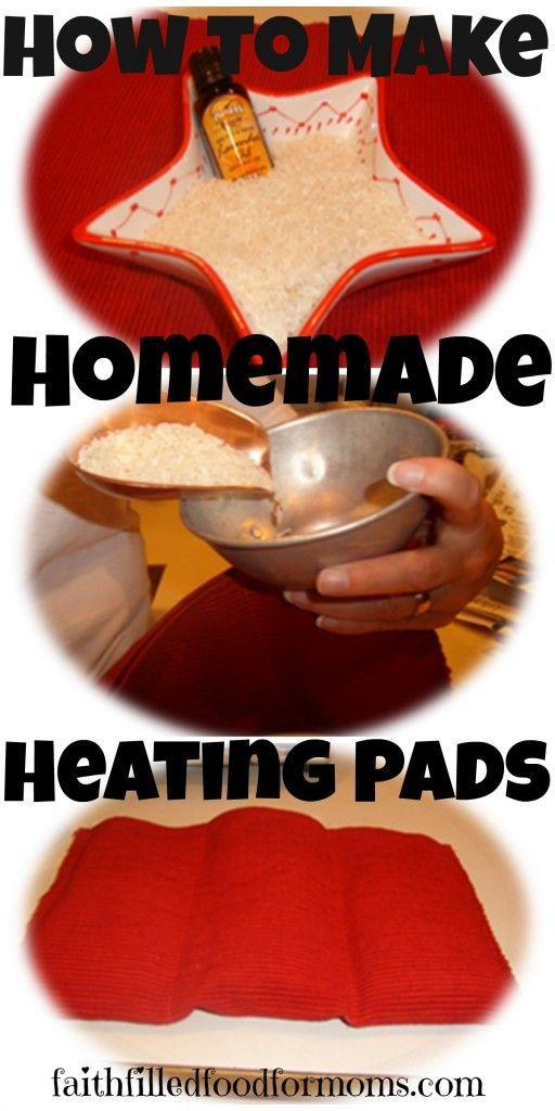 How to Make Homemade Heating Pads ~ Great for achy bones and sore muscles OR just to stay toasty warm! Makes a WONDERFUL gift!