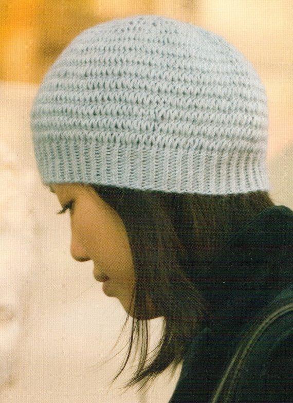 Nolita Lace Cap Vintage Knitting Pattern banded by Yesteryarn on Etsy