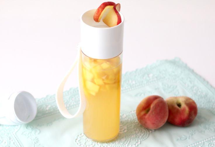 Zelfgemaakte perzik-ijsthee zonder suiker | Chickslovefood.com | Bloglovin'