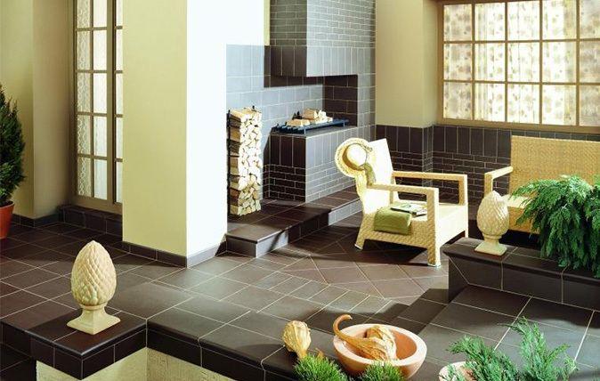aranzacja klasycznego tarasu natural brown ceramika paradyz