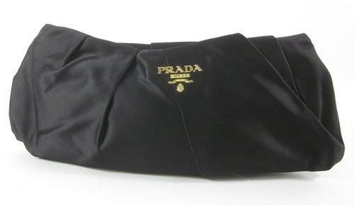 prada raso gathered clutch