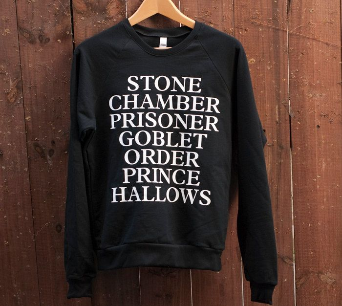 harry potter sweatshirt.