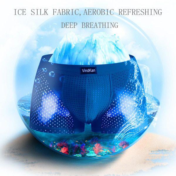 VindKan Mens Magnet Antibacterial Health Modal U Convex Pouch Mesh Breathable Boxers Underwear - Banggood Mobile