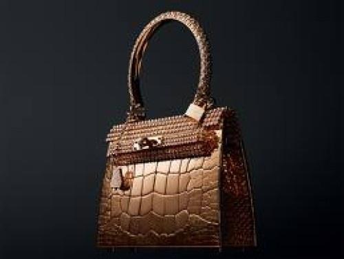 Golden bag by Hermes