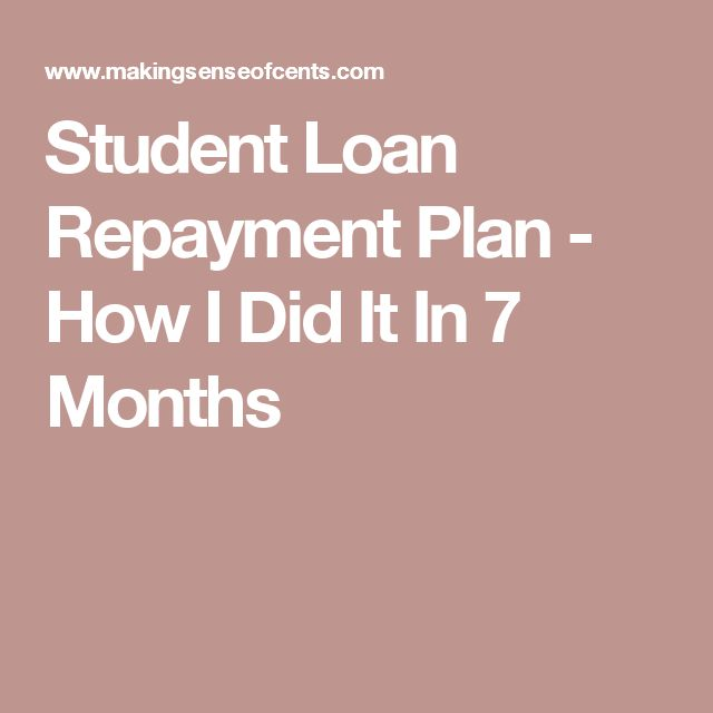Student Loan Repayment Plan - How I Did It In 7 Months
