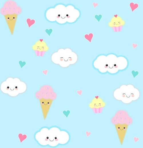 ice cream and clouds