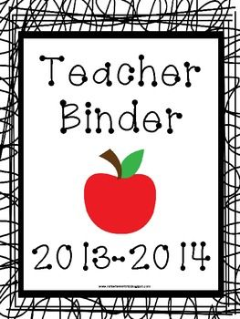 Free Teacher Binder Pages