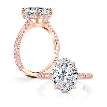 CHELSEA ROSE PINK DIAMONDS is a handcrafted solitaire engagement ring set  in 18K Rose Gold with