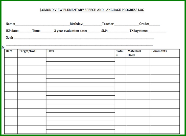 speech therapy progress report template - 28 images - 1000 images ...