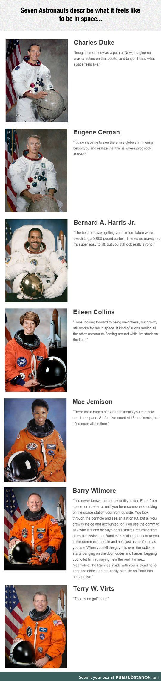 Astronauts describe what it feels like to be in space <--- I love NASA