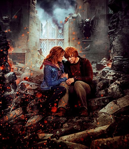 If the world falls down around us, I'll still have you ~ Hermione & Ron ~ Harry Potter and the Deathly Hallows
