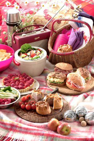 Lavish picnic ~~ My grandmother and my mother often took us on picnics. Also our congregation arranged picnics and baseball games for us all at a wonderful park by the river. Great memories. Great family, Great friends.