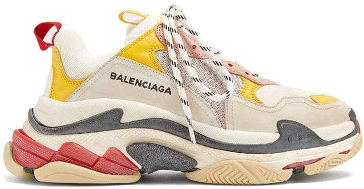Balenciaga Triple S Cream Yellow Red (W