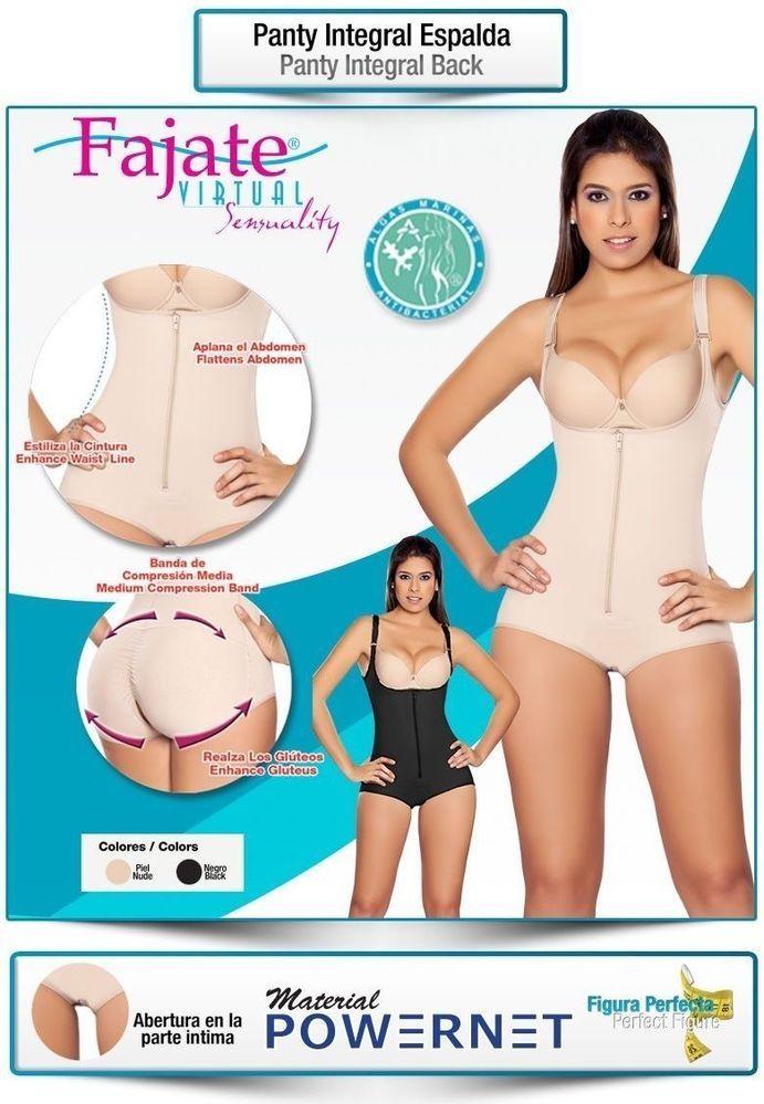 PANTY INTEGRAL FAJATE COLOMBIA MODA Magic Body Shaper Powernet Butt Lifter 275 #FajateColombiaysuModaVirtualSensuality #FullBodyShaperBrief