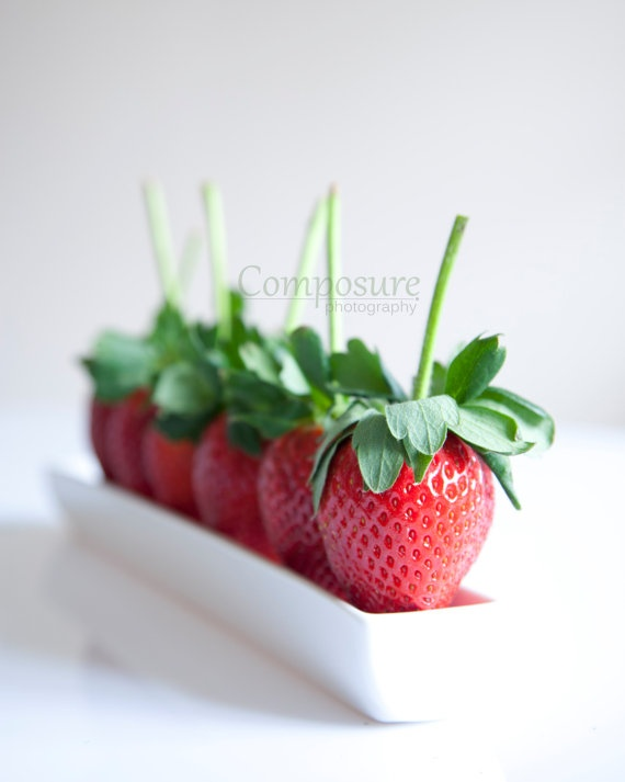 Strawberry kitchen photo print graphic by ComposurePhotography, £16.00