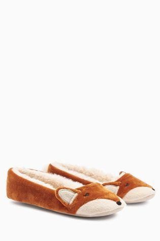 Ginger Fox Ballerina Slippers