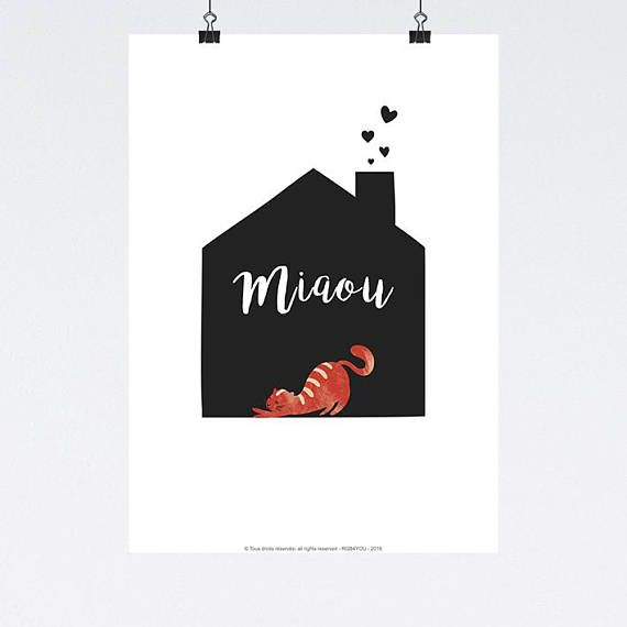 Affiche Decoration Interieur #14: Affiche Ma Maison #home #cats #love