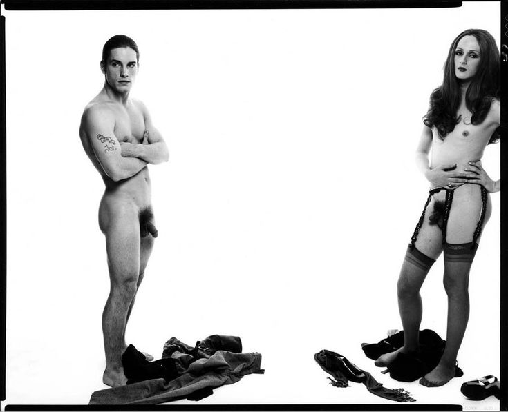 Joe Dallesandro and Candy Darling shot by Richard Avedon in 1969
