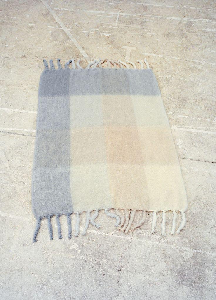 Celine Checked Blanket Wool Mohair