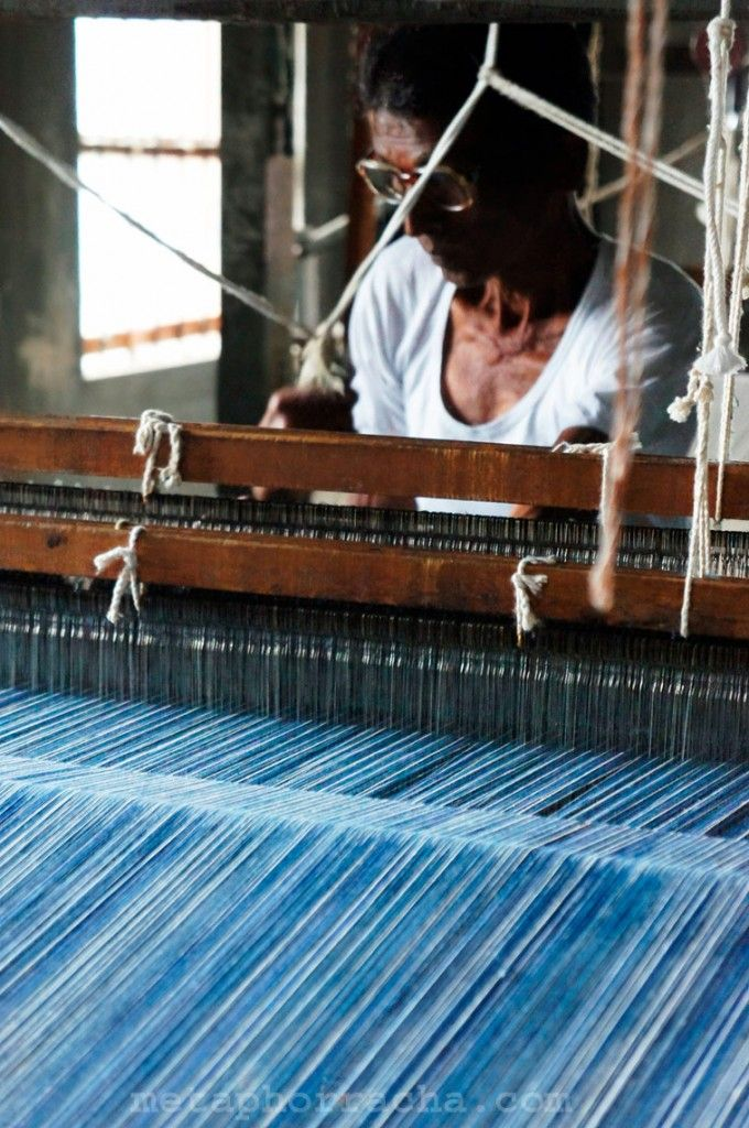 #khadi saree weaver .