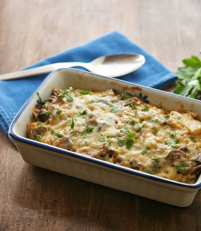 Caramelized Cauliflower and Mushroom Casserole (contains dairy) #TheIronYou