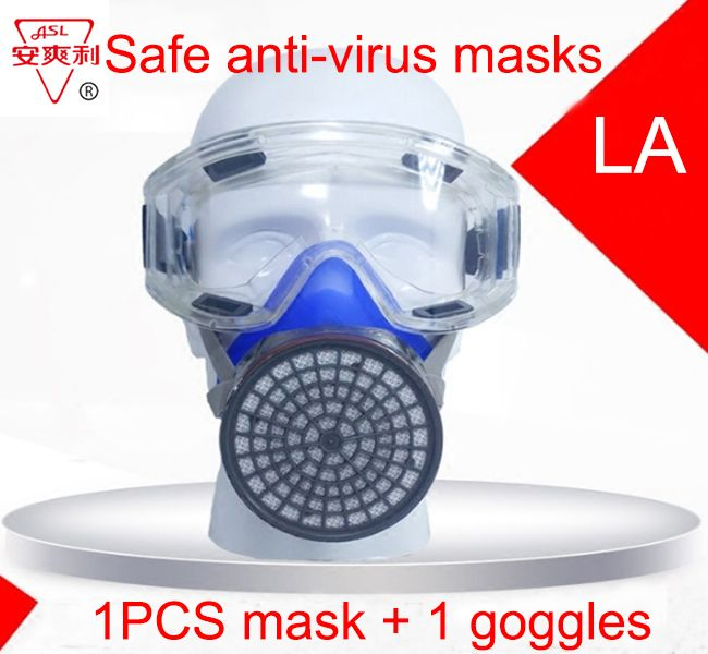 ASL respirator gas mask 1PCS Mask + goggles high quality respirator against Painting pesticide Graffiti protective mask #Affiliate