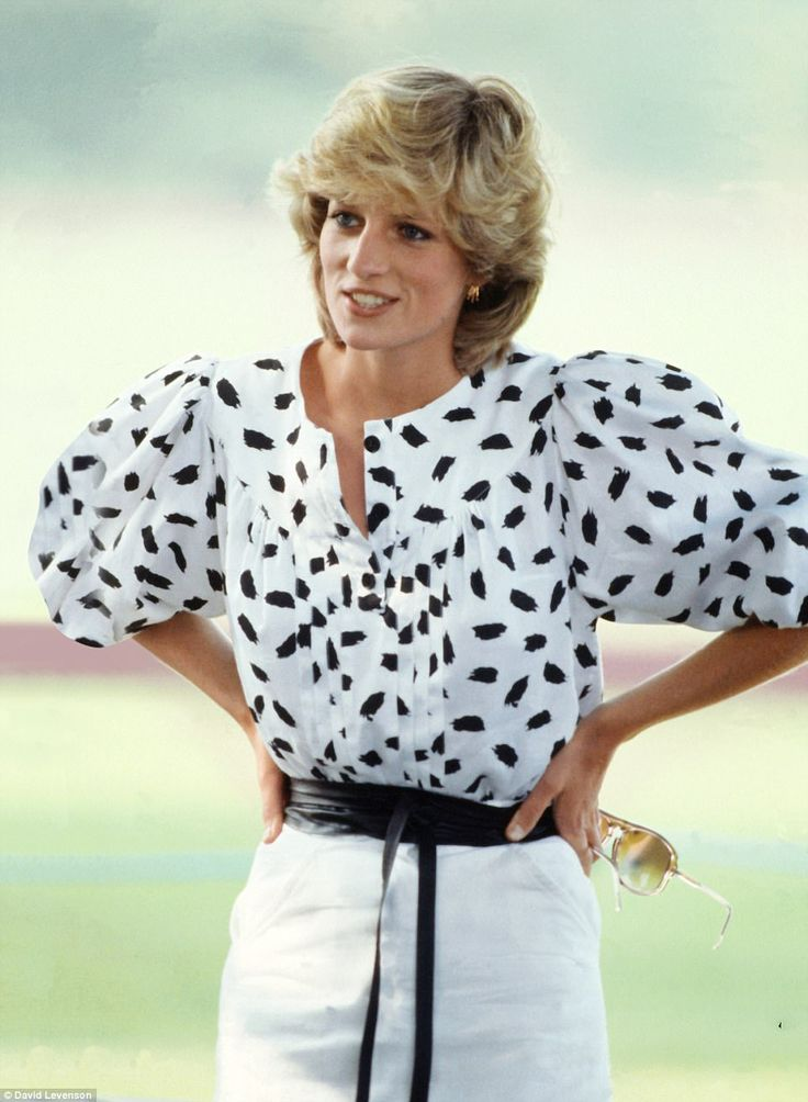 It's a winner: Puffed sleeves and pleats add drama for a Cirencester polo match in 1983
