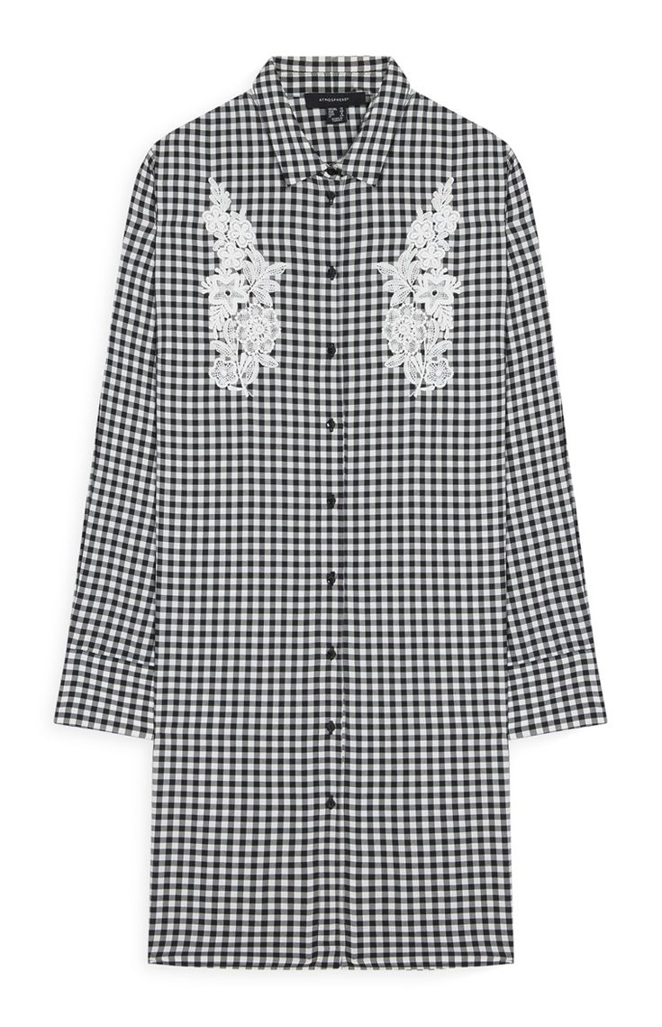 Primark - Gingham Floral-Embroidered Dress