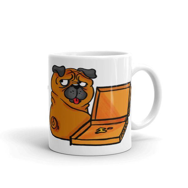 Pug Loves Pizza Mug