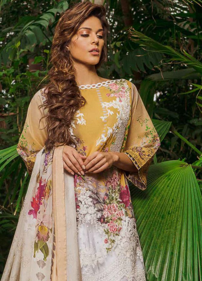 5de095d008 Sobia Nazir Embroidered Lawn Unstitched 3 Piece Suit SN19L 9A - Spring / Summer  Collection