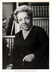 Virginia Lacy Jones (June 25, 1912 - December 3, 1984) was a preeminent African-American librarian who throughout her 50-year career in the field pushed for the integration of public and academic libraries. A trailblazer of her time, she would go on to become one of the first African-Americans to earn their PhD in the Library Sciences field as well as becoming dean of Atlanta University's School of Library Sciences.  She was a member of Delta Sigma Theta.