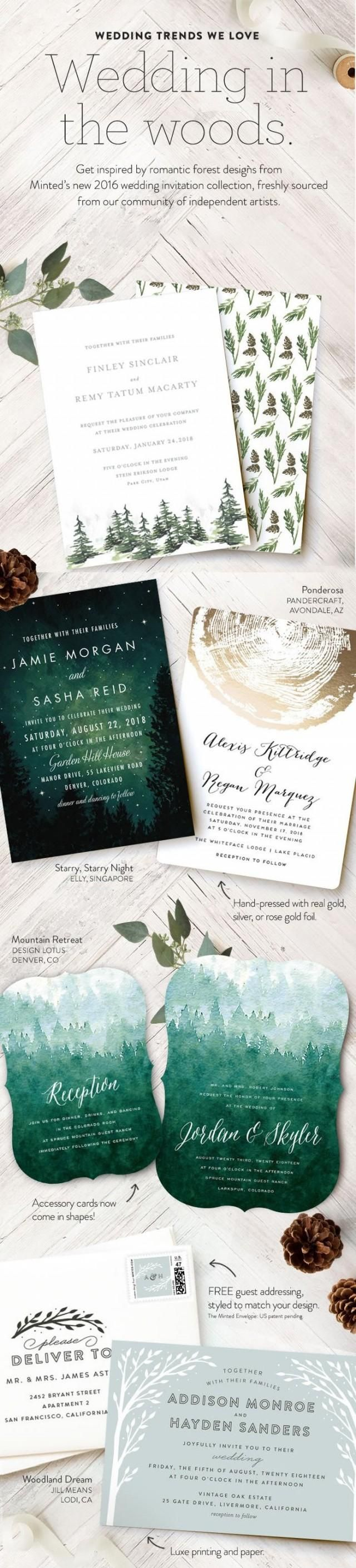 make your own wedding invitations online free%0A Get inspired by romantic forest wedding invitations designs from our  Minted u    s collection of wedding stationery and